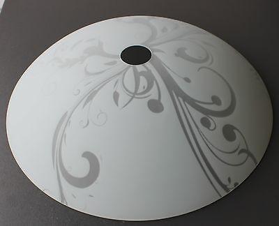 Glas Lampenschirm Ersatzglas Schale weiß  E27 Lochmaß Fassung ø 42 mm
