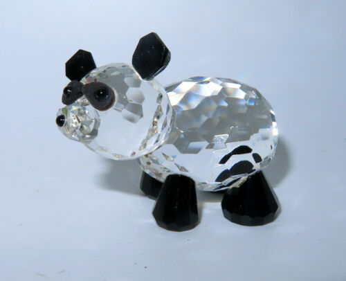 New Panda Bear Stunning Cut Crystal Figurine Pandas Bears