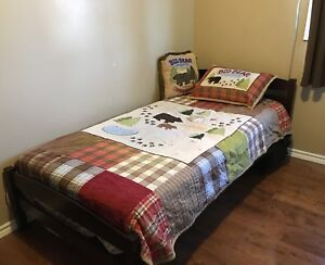 Camping Themed Twin Bedding Set