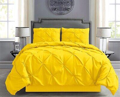 Pintuck Hypoallergenic 8-Piece Bed In A Bag Comforter Set w/ Sheet Set - Yellow