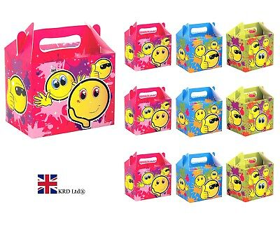ds Smiley Themed Birthday Bags Smile Face Favors Box Gift UK (Emoji-party)
