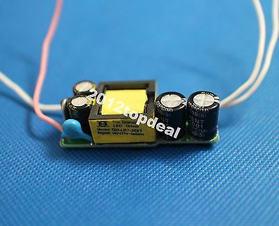 5pcs 7-20x1w Constant Current Led Dimmable Driver Power Supply Ac185-277v 350ma