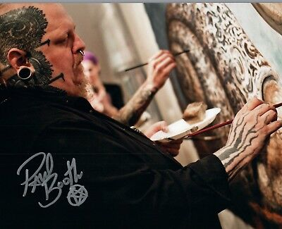 Paul Booth Signed Autographed 8x10 Photo Tattoo Artist COA VD - Tattoo Booth