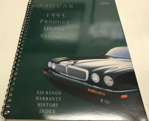 1995 Jaguar Dealership Product Guide Volume 2 XJS Range Warranty History Index