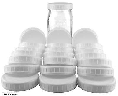 Two Dozen Wide Mouth Plastic Mason Jar Lids (24-Pack Bundle); 2 Dozen Unlined](Plastic Mason Jar Lids)