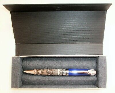 Masonic ball point Pen - Blue, NEW IN BOX - The Best Gift idea for Fellow Mason