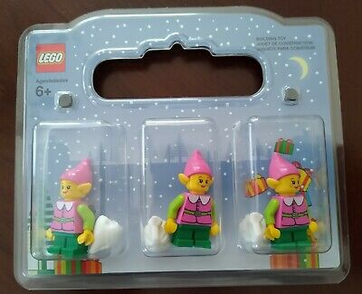 New Lego 3-Pack Pink Female Elves Minifigures Christmas Winter Village
