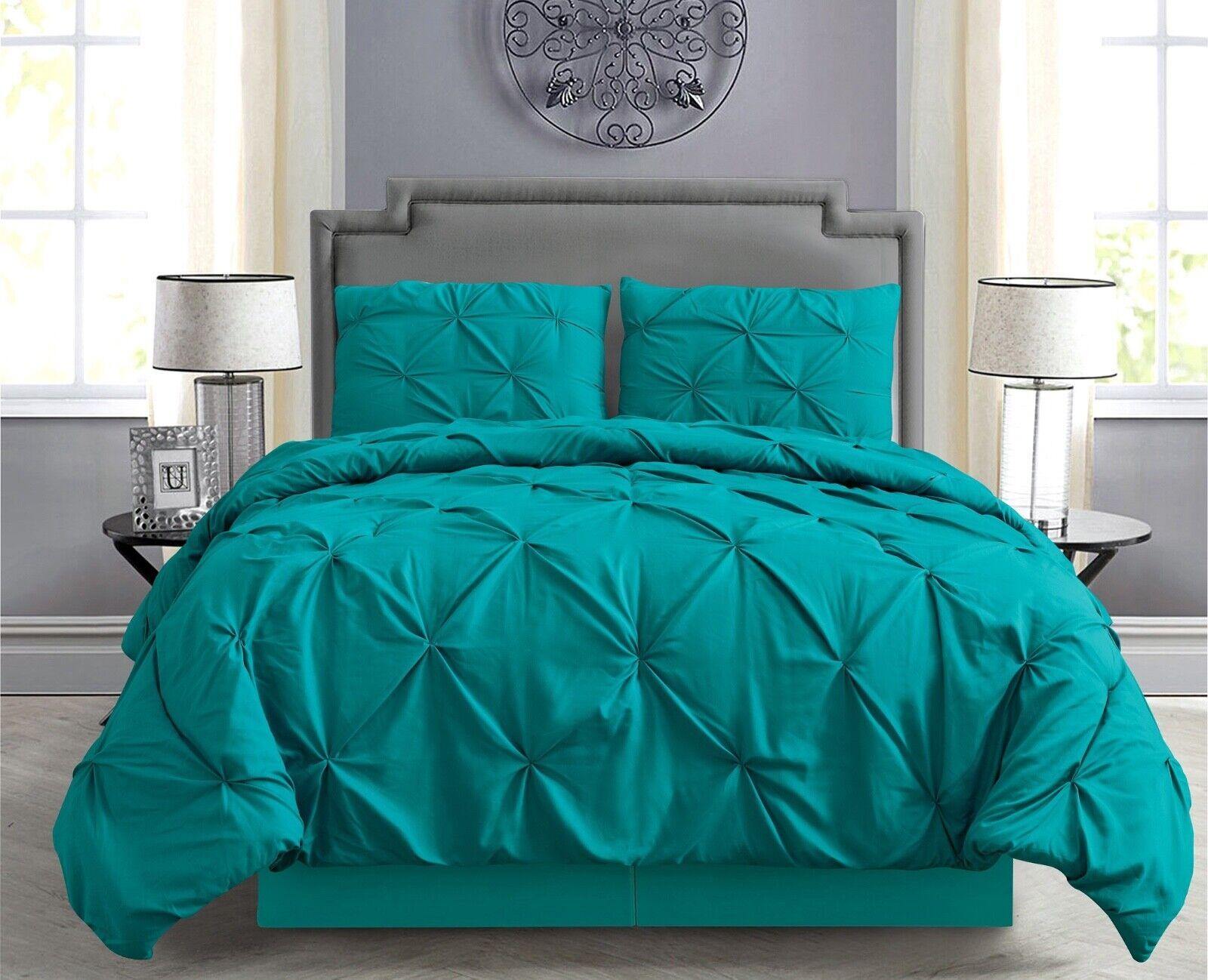 Pintuck Hypoallergenic 8-Piece Bed In A Bag Comforter Set w/