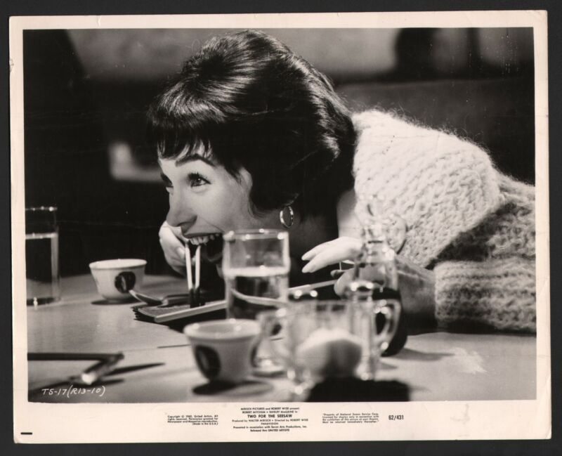 Two for the Seesaw-Shirley MacLaine-B&W-Still