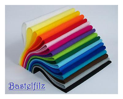 Bringmann Bastelfilz Set 17 Farben 30cm x 20cm x 1mm Filz Basteln Bunt Geschenk