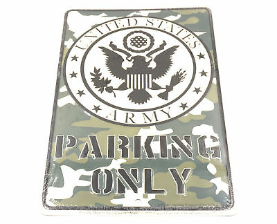 United States US Army Parking Only 8 x 12 Automotive Car Garage Man Cave Sign