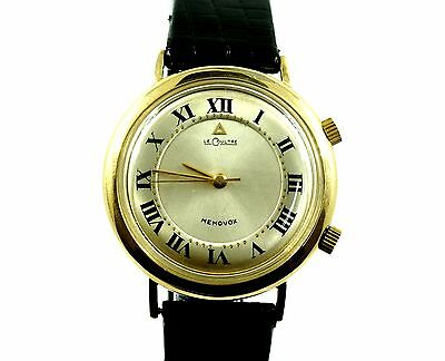 VINTAGE JAEGER-LECOULTRE MEMOVOX K814 ALARM 10KT YELLOW GOLD FILLED WRIST WATCH