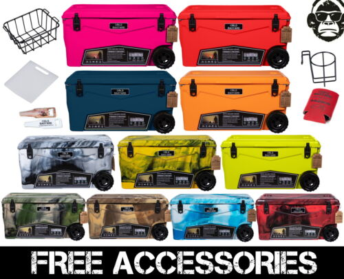 70QTW NEW RUGGED+ COLD BASTARD PREMIUM ICE CHEST COOLER 11 color FREE GIFTS ACCS