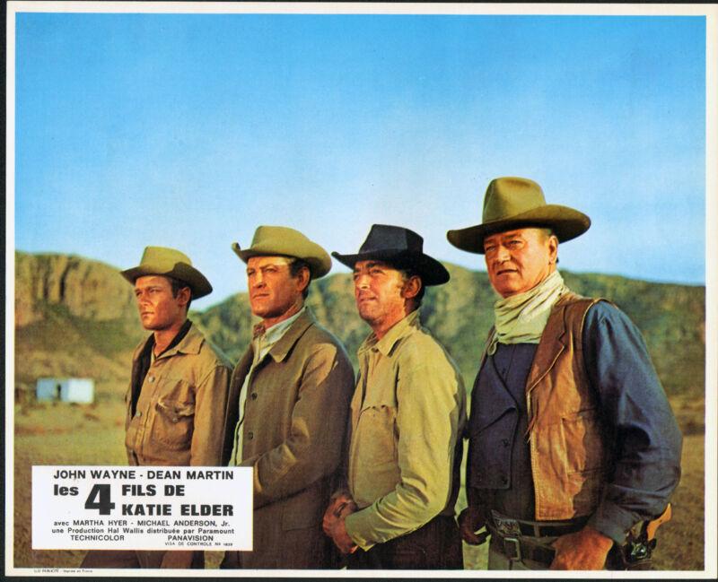 THE SONS OF KATIE ELDER original RARE 1965 lobby card set JOHN WAYNE/DEAN MARTIN