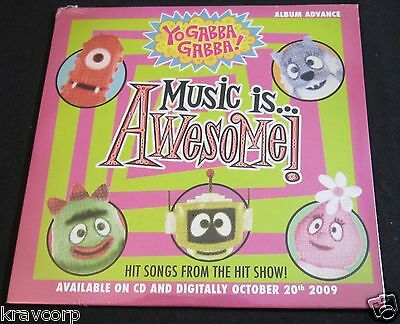 SHINS/BIZ MARKIE/ROOTS 'YO GABBA GABBA: MUSIC IS AWESOME' 2009 PROMO CD—SEALED