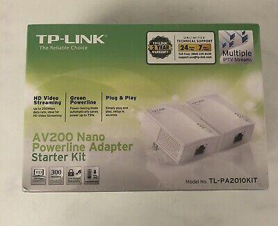 TP Link AV200 Nano Powerline Adapter Starter Kit