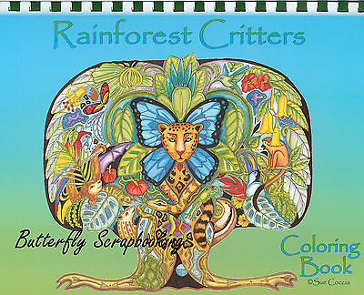 REST Criters Animal Spirits 15 Page EARTH ART Sue Coccia New (Aquarell Coloring Book)