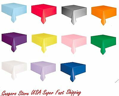 Table Covers Birthday Wedding bridal Baby Shower Party Supply U Pick Solid Color