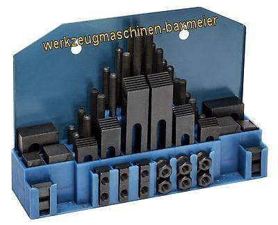 Spannwerkzeugsortiment Spanneisen T - Nutensteine M 10 / 12mm für Optimum BF 20