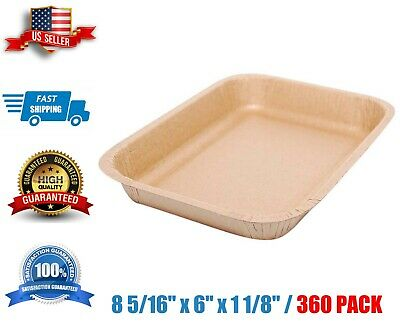 Paper Food Tray 8 516 X 6 X 1 18 - 360case Eco Disposable Kraft