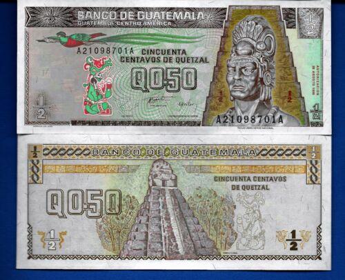 Guatemala P-96 1/2 Quetzal Year 1996 Uncirculated Banknote