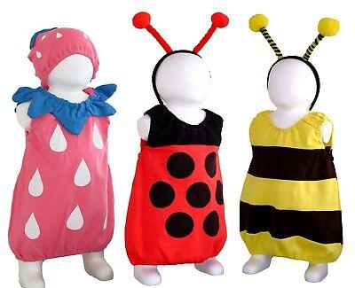 Baby Kleinkind Kinder Kostüm Fasching Karneval Biene Marienkäfer