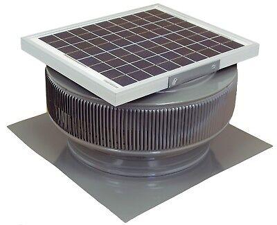 Aura Vent Solar Fan 14 Inch Exhaust Roof 15w 17v 1007 Cfm Gray