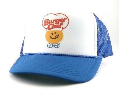 Burger Chef Trucker Hat mesh hat snapback hat royal blue new adjustable - Blue Chef Hat