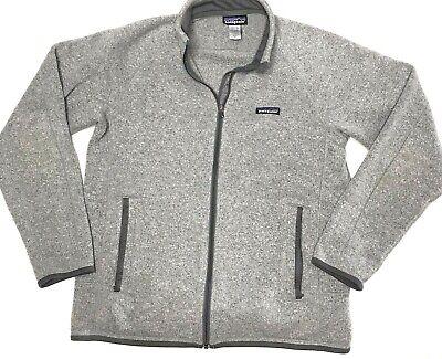 Patagonia Better Sweater Full Zip Gray Fleece Jacket Mens Size Medium