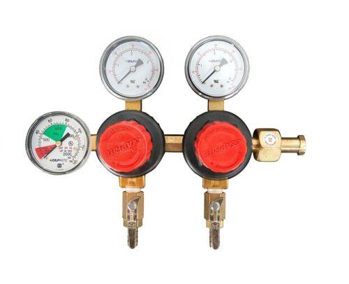 Taprite CO2 Regulator Dual Pressure Kegerator w/ 60# and 2000# Gauge, E-T752HP