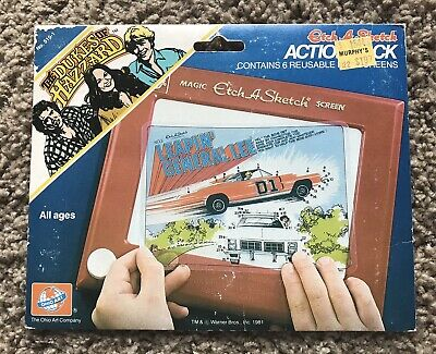 Dukes of Hazzard Etch-A-Sketch Action Pack - Complete 6 Unused Screens Ohio Art
