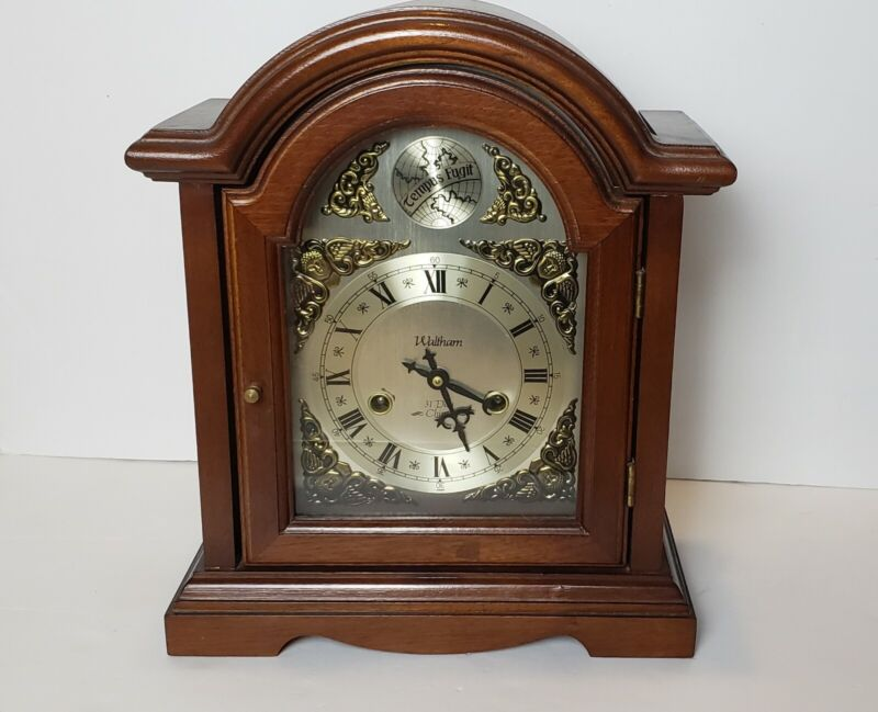 Excellent Vintage Waltham Tempus Fugit Mantle Grandfather Clock 31 Day Chime