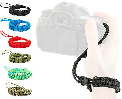 Lens-Aid Handschlaufe für Kamera: Paracord Wrist-Band Kameragurt für Handgelenk - Aid Band