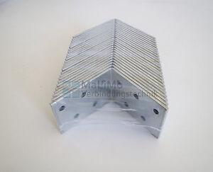 25 Stück Lochplattenwinkel 60x60x40x2,0 mm Winkelverbinder Winkel Stuhlwinkel