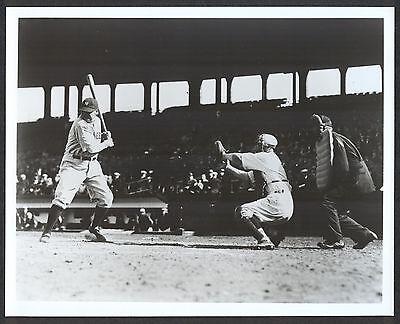 Babe Ruth At Bat At Fenway Park 8X10 Photo C 1930 New York Yankees  Later Print