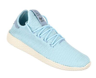e44042af3 ADIDAS Pharrell Williams Tennis HU Casual Shoes sz 10.5 Tactile Blue Ice  Blue