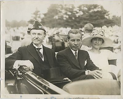 1928 Mr. and Mrs. Calvin Coolidge and son John visit Wausau Wisconsin