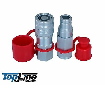 Tl41 38 Npt Thread 38 Flat Face Hydraulic Quick Connect Coupler Coupling Set