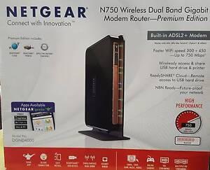Netgear N750 DGND4000Wireless Dual Band Gigabit ADSL Modem/Router Roxburgh Park Hume Area Preview