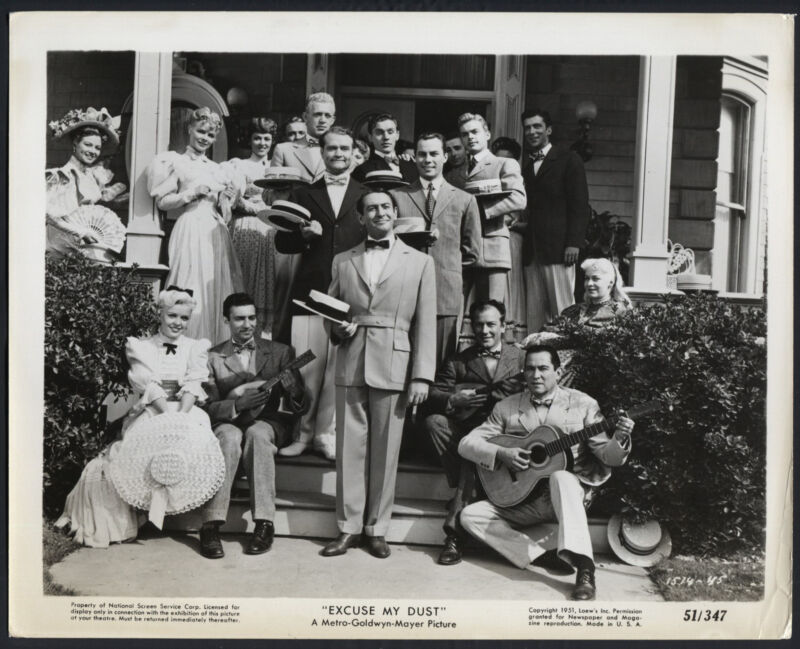 Excuse My Dust '51 SALLY FORREST MACDONALD CAREY RED SKELTON