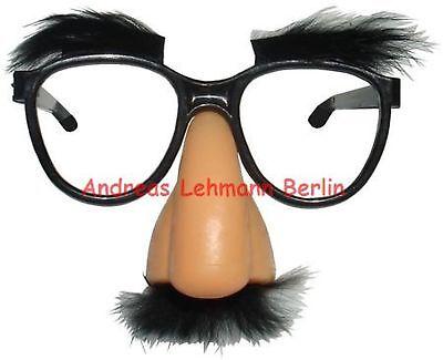 Clown-Brille Clownbrille Spaßbrille Partybrille mit Streben und roter Nase 15 cm