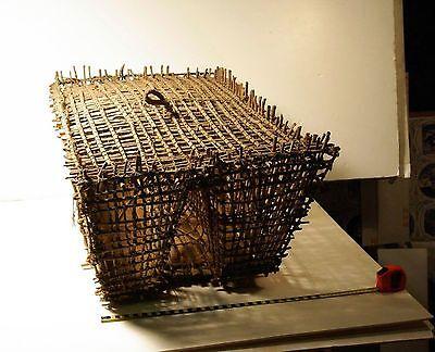 Native American basket, large fish trap, possibly Hawaiian.
