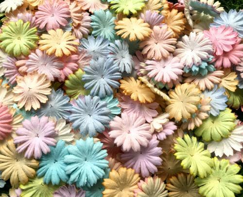 50+Petals+Daisy+Flowers+Pastel+Color+Mulberry+Paper+Craft+Wedding+Card+Scrapbook