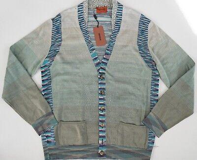 $540 Authentic MISSONI ORANGE LABEL 100% COTTON Knitted Cardigan Sweater IT-50 M