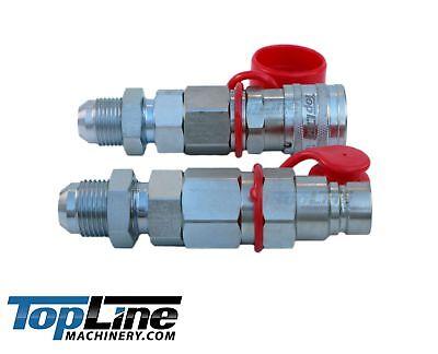 Tl20 8 Jic Flat Face Hydraulic Quick Connect Coupler Set Bobcat Coupling 12