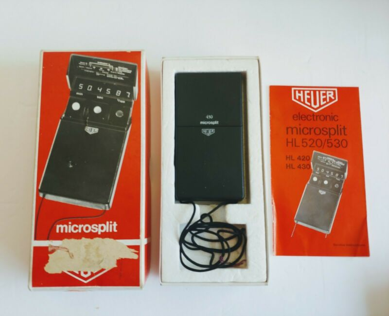 Heuer Microsplit Timer Vintage 1974 Switzerland Free Shipping