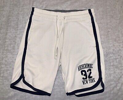 Abercrombie & Fitch medium mens athletic leisure shorts white drawstring