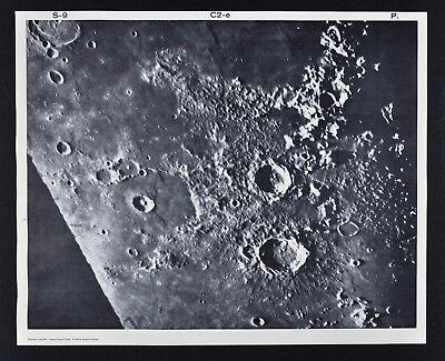 1960 Lunar Moon Map Photo Caucasus C2-e Pic Du Midi Observatory Crater Astronomy