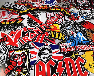 Job Lot 10 Large Music/Band Stickers/Decals Rock/Metal/Punk Guitar/Case/Laptop