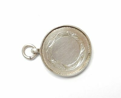 Fob Medal Sterling Silver Antique Birmingham 1926 4.6g
